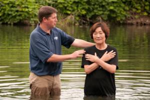 Mieko Kobayashi Baptism