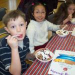 Eating-ice-cream-at-Sunday-school